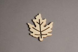 x563mi Sachet de 10 feuilles en bois H10cm
