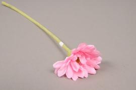 x567jp Gerbera artificiel rose H36cm