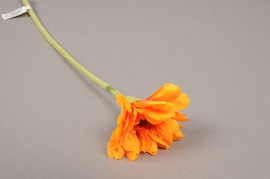 x569jp Gerbera artificiel orange H36cm