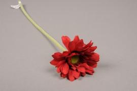 x571jp Gerbera artificiel rouge H36cm