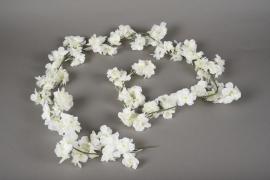 x574jp Guirlande de cerisier blanc H180cm