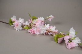 x578mi Branche de cerisier artificiel rose H127cm