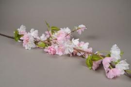 x578mi Pink artificial cherry blossom branch H127cm