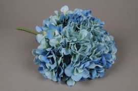 x579jp Hortensia artificiel bleu H47cm