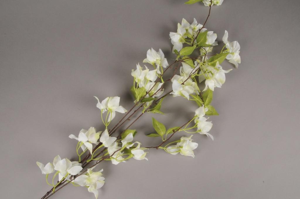 x579mi Branche de bougainvillier artificiel blanc H150cm