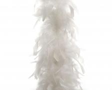 X582KI Boa de plumes blanches H184cm