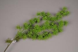x588jp Branche de boule de pin artificiel vert H89cm