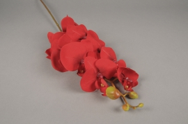 x599mi Red artificial phalaenopsis branch H80cm