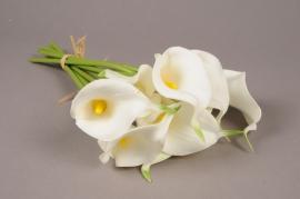 x608mi Bouquet d'Arum artificiel blanc H35cm