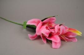 x612mi Pink artificial lily H86cm