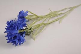 x618di Bleuet artificiel bleu H66cm