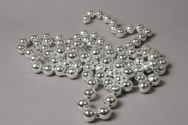 X620KI Guirlande de perles argent  D20mm L285cm