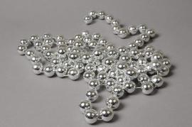 X620KI Silver plastic beads garland D20mm L285cm