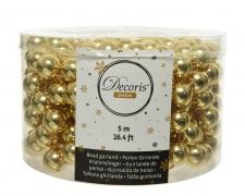 X624KI Guirlande de perles dorées H500cm