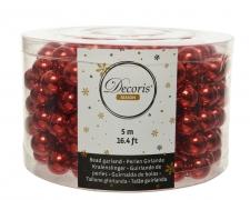 X625KI Guirlande de perles rouges H500cm