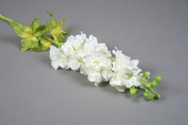 x629mi Delphinium artificiel blanc H80cm