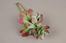 x634jp Artificial green succulent plant H18cm