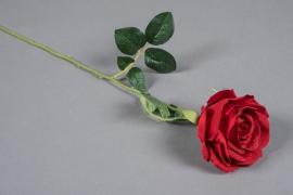x637mi Rose artificielle rouge H54cm