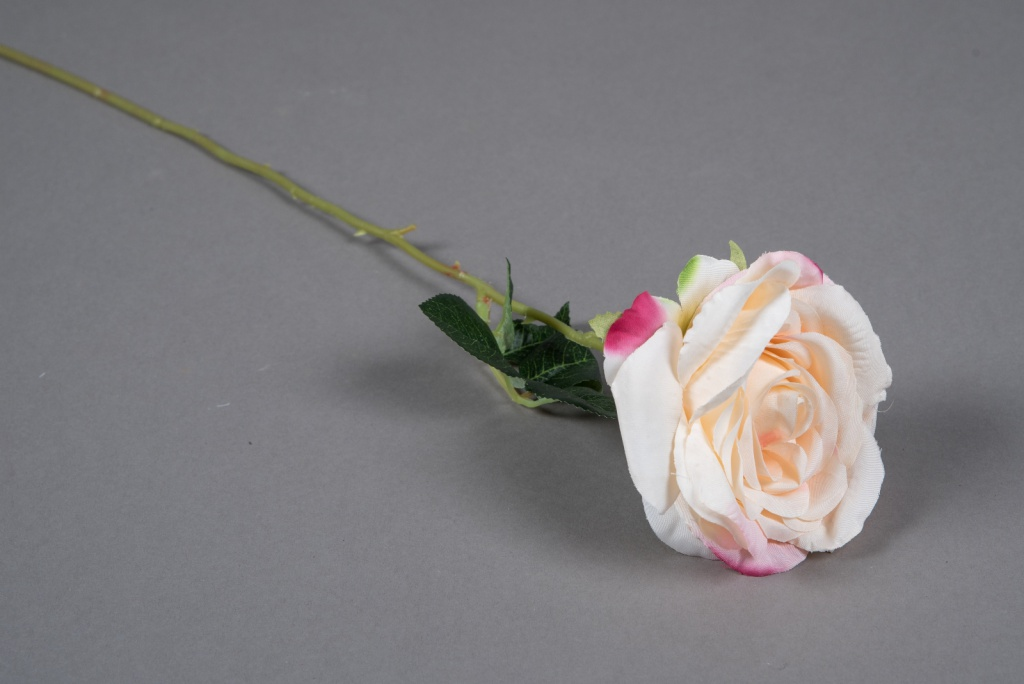 x639mi Rose artificielle rose pâle H55cm