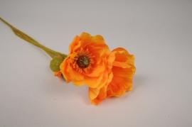 x645di Artificial orange poppy H76cm