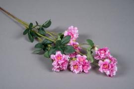 x647mi Branche de cerisier artificielle rose H75cm