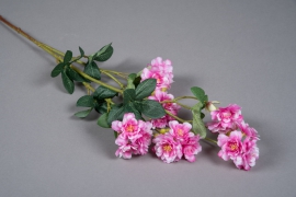 x647mi Pink artificial cherry blossom tree branch H75cm