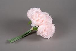 x648jp Bouquet de 7 pivoines artificielles rose H30cm