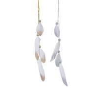 X650KI Assorted pendant feather and pearl H25cm