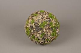 x651jp Boule de mousse lichen artificielle D20cm