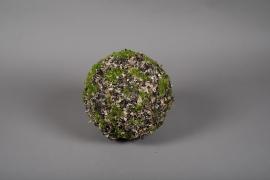 x652jp Boule de mousse lichen artificielle D25cm