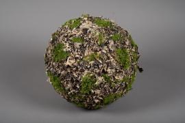 x653jp Boule de mousse lichen artificielle D30cm