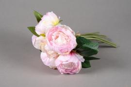 x658jp Bouquet de pivoines artificielles rose H30cm