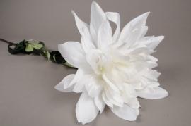 x660mi White artificial Dahlia H110cm