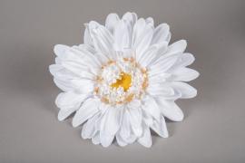 x662jp Gerbera blanc artificiel D33cm