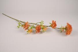 x663di Orange artificial bouvardia branch H85cm