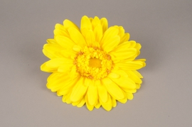 x663jp Artificial yellow gerbera D33cm