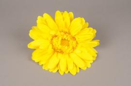 x663jp Gerbera jaune artificiel D33cm