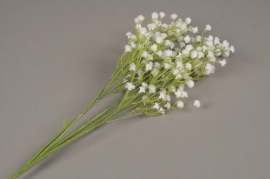 x676jp Artificial white gypsophila H68cm