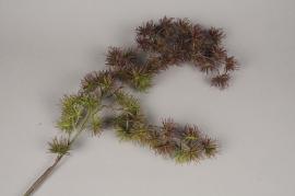 x684jp Branche de feuillage artificiel pourpre H93cm