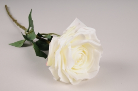 x702jp White artificial rose H53cm
