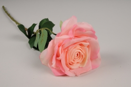 x704jp Rose artificielle rose H53cm
