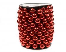 X704KI Roll of red beaded garland 14mm x 5m