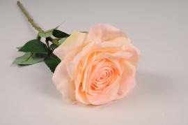 x705jp Rose artificielle pêche H53cm