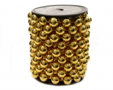 X705KI Roll of beads gold 14mm x 5m