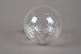 X706DQ Glass balls with pearl decoration D12cm
