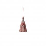 X750DQ Pink cloth tassel H14cm