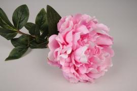 x752jp Pivoine artificielle rose fonce H70cm