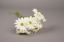 x766nn Bunch of 7 artificial white gerbera H48cm