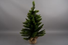 X773DQ Artificial Christmas tree and jute bag H90cm