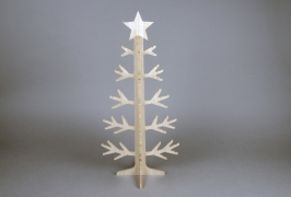 X778DQ Natural wooden Christmas tree H60cm